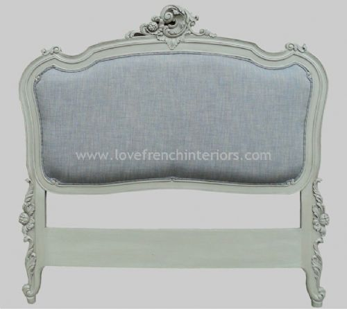 Rococo Upholstered French Headboard Super Kingsize